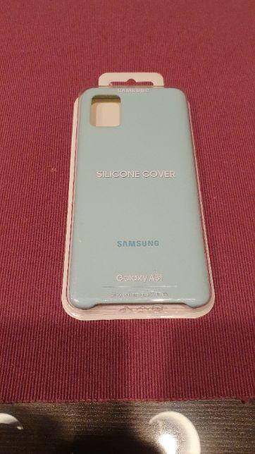 NOWE Etui SAMSUNG Silicone Cover Galaxy A51 Niebieski EF-PA515TLEQEU