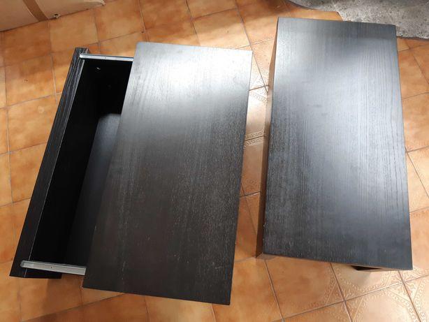 Mesas de cabeceira castanho escuro USADAS