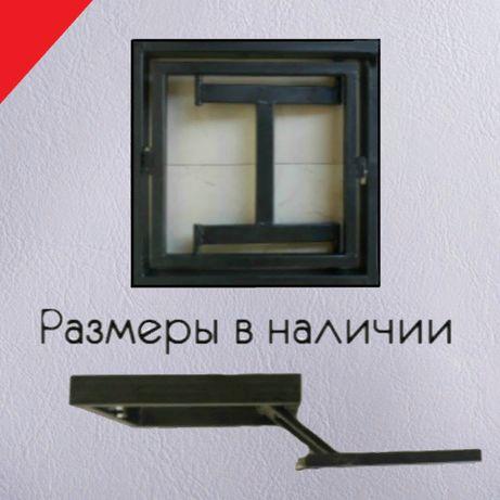 Ревизионный люк нажимной под плитку потайной скрытый (евролюк)