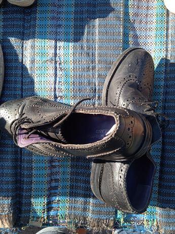 Мужские туфли броги оксфорди