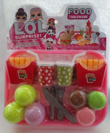 Игрушка набор еда продукты для кукол с куклой LOL лол