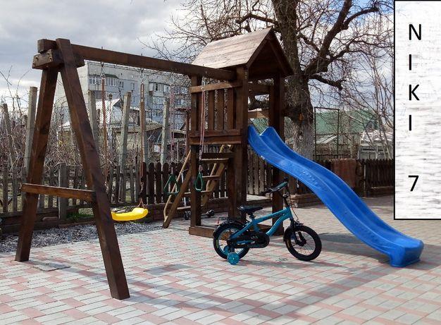 Дитячий деревяний ігровий майданчик Нікі 7. (детская площадка)