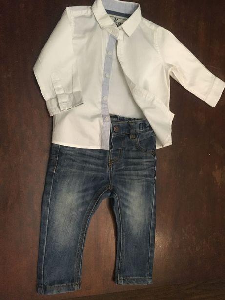 Рубашечка и джинсы для малыша