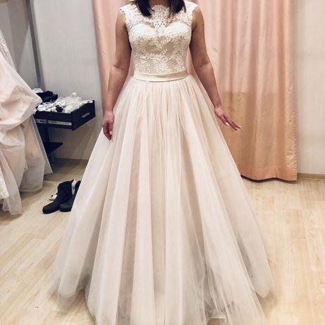 Suknia ślubna ( pudrowy róż )