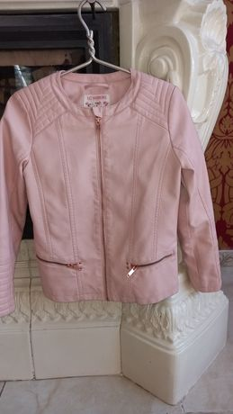 Куртка из кожзама пудрового цвета LC Waikiki на 10-11лет