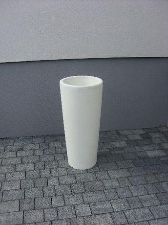 Donica betonowa, ogrodowa, nowoczesna, biała, szara, okrągła.