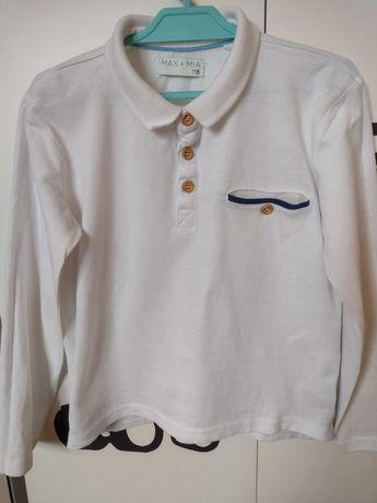Koszulka polo bawełniana długi rękaw r.116