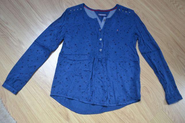 Excelente camisa Tommy Hilfiger azul estrelas pretas, rapariga 14 anos