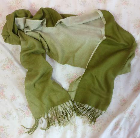 Szalik szal chusta zielona khaki