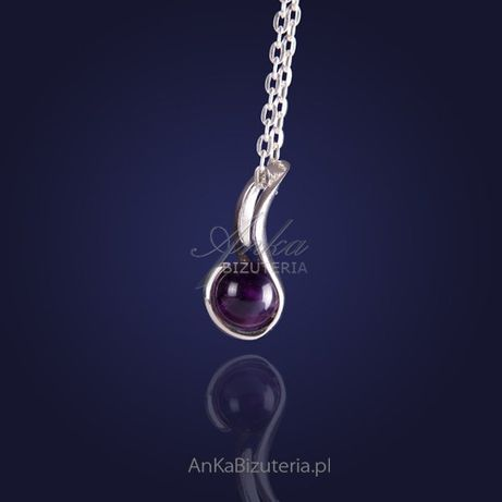 ankabizuteria.pl Biżuteria srebrna - ultrakobiecy Wisior srebrny z ame