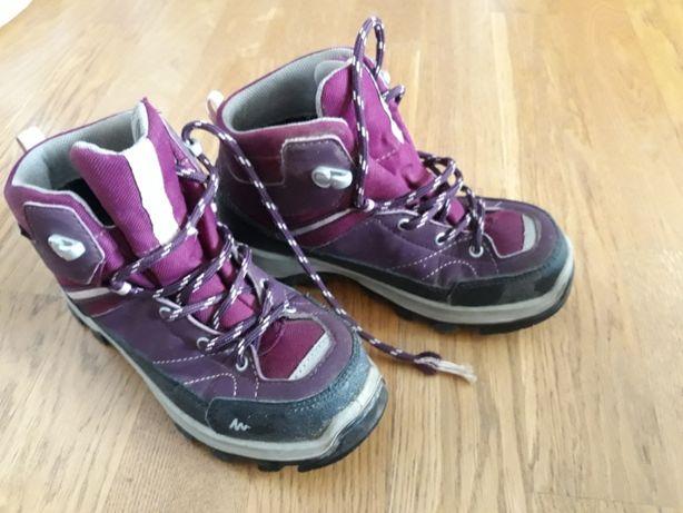 buty zimowe z decathlonu dziewczęce rozmiar 32 fioletowe