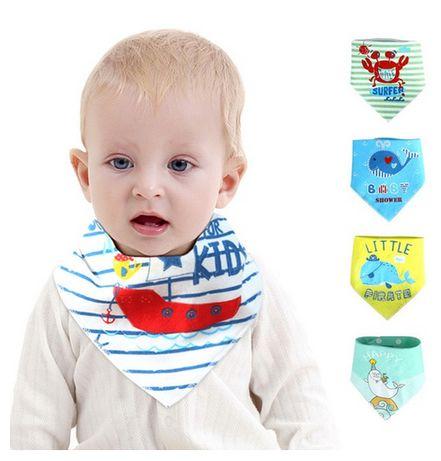 Babetes Triangulares Bebé/ Bandanas Menino com molas