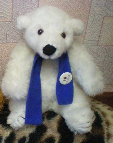 Игрушка мягкая Мишка белый в шарфе Франция детская игрушка