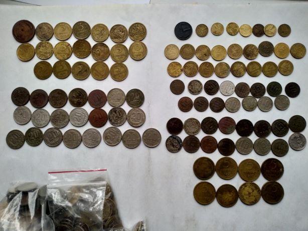 Дореформа, 1924 - 1957, монеты СССР 1, 2, 3, 5 ,10, 15, 20 копеек