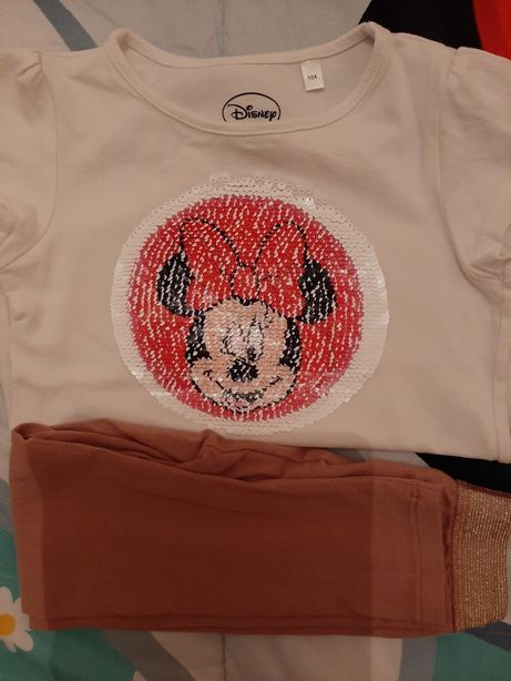 Vendo T-shirt da Minnie C&A e Leggings da Vertbaudet de menina 4 anos