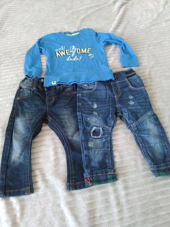 Spodnie next bluzka Reserved 80