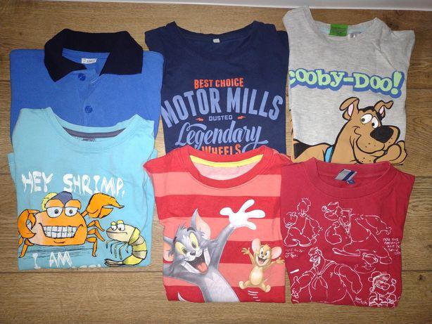 Koszulka paka 6 szt Scooby doo tom i jerry 116