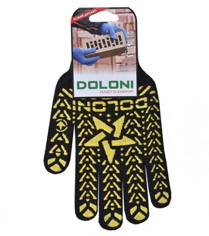 """Перчатки рабочие звезда черная """"Doloni арт.562"""""""
