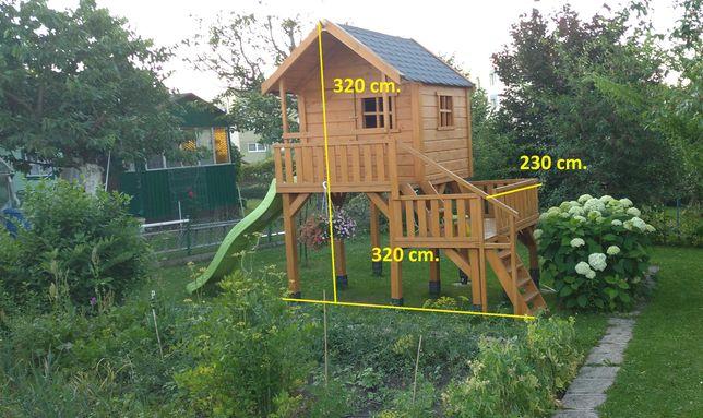 drewniany domek ogrodowy dla dziecka
