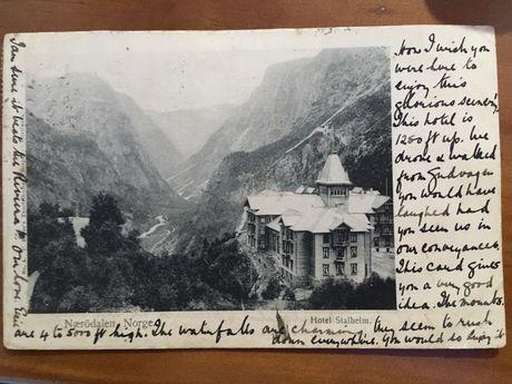 Postal norueguês de 1877