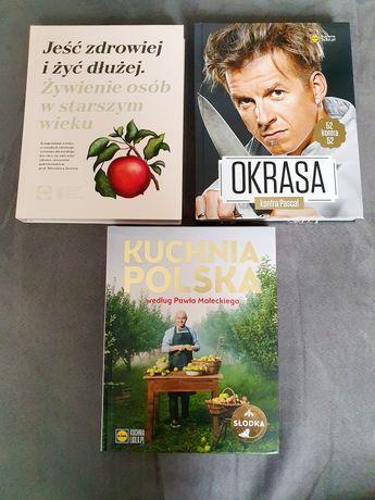 Książki 3 szt kucharskie