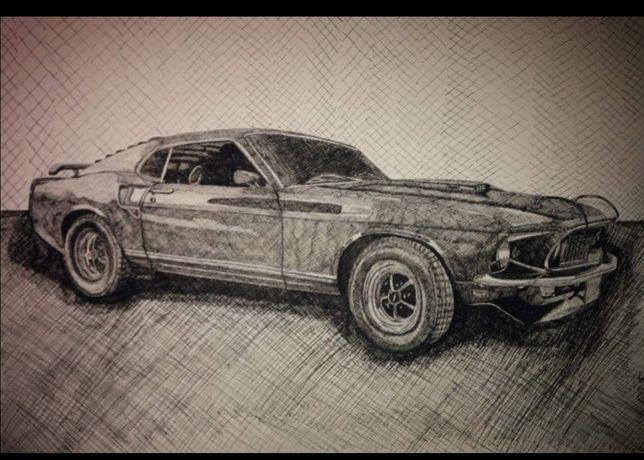 Desenhos de carros e motas por encomenda