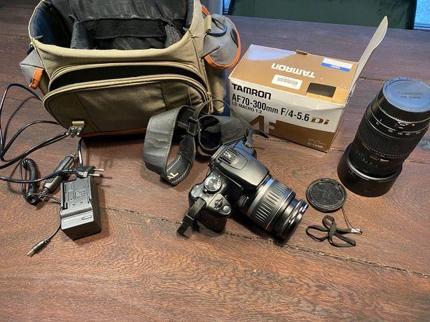 Zestaw fotgraficzny Canon EOS 350D + Tamron AF 70-300 + Canon 18-55