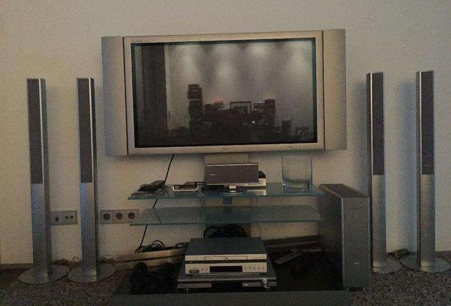 Sistema Audiovisual Completo com Som Surround Panasonic e Plasma LG