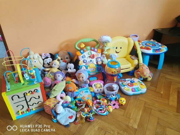 Zabawki stolik miski grzechotki krzesełko fisher price różne
