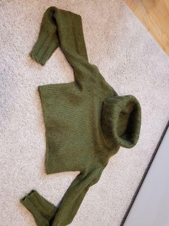 Solar, moherowy krótki swetry, komin