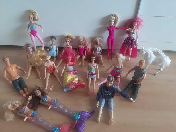 Lalki Barbie 14 szt i 3 Keny
