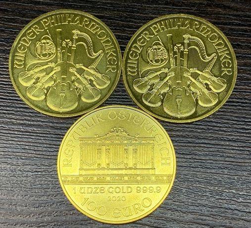 Moneta kolekcjonerska 100 euro - wiedeński filharmonik