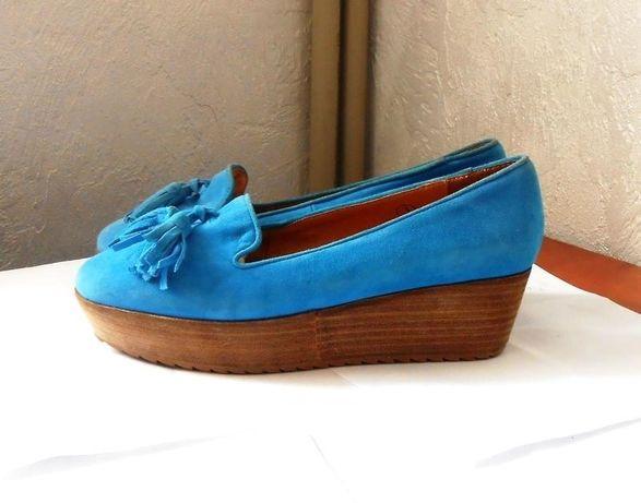 Натуральная замша + кожа! Яркие и удобные туфли Ravel, р.35 код T3535