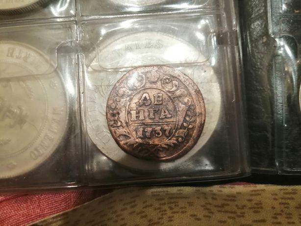 Продам монету денга 1737 царская