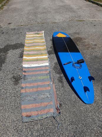 Prancha de surf Longboard Polen 9'1 com capa + quilhas + leash