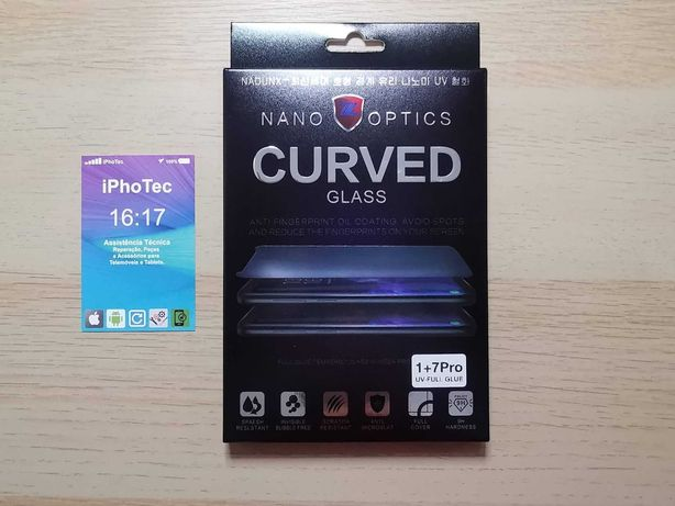 Pelicula vidro OnePlus 7PRO / OnePlus 8PRO UV Liquid 3D Curved