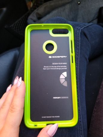 Huawei P Smart neonowy żółty etui case gumowy futerał pokrowiec nowe