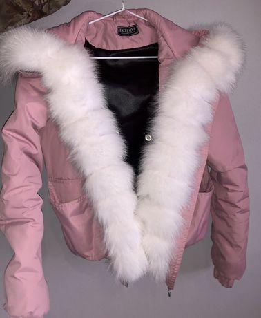 Зимова куртка з натуральним хутром