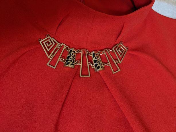 Красное платье нарядное размер 44-46 (S-M)