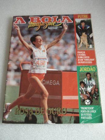 Antiga Revista A BOLA com Rosa Mota na Capa
