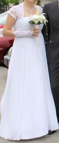 suknia ślubna z dodatkami rozmiar 38+