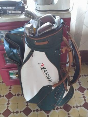 Saco de golfe com tacos