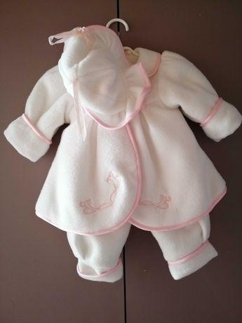Zimowe ubranko do Chrztu dla dziewczynki