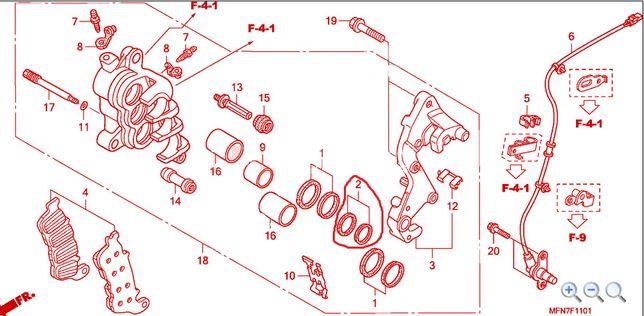 HONDA 06451-MZ2-405 OEM uszczelniacze zacisk hamulcowy cb1000r vtx1800
