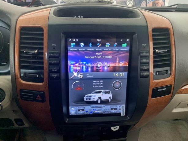 Штатная Магнитола Tesla Style Lexus GX 470 / Toyota Prado 120