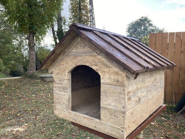 Duża buda drewniana dla psa 100x75x70