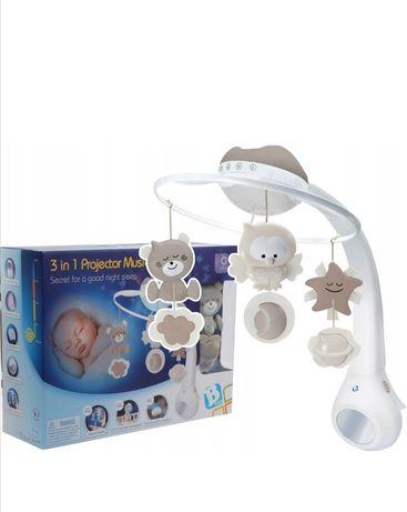 Karuzela z projektorem B Kids do łóżeczka dla dziecka