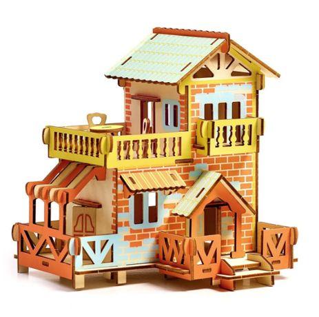 Деревянные 3D пазлы . Трехмерный конструктор-головоломка 18см