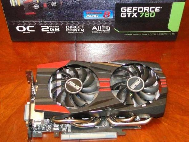 Gráfica Gaming ASUS GTX 760 2GB DDR5