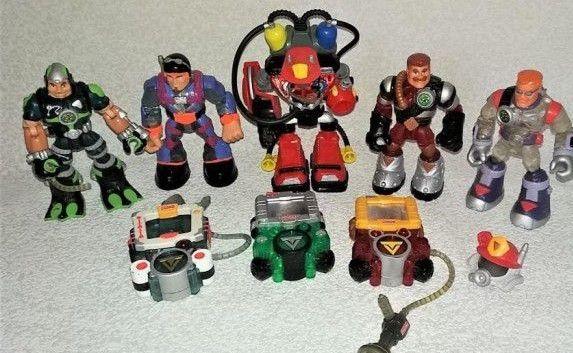 10героев Fisher Price Rescue Heroes Quick Response Wavecraft 1998г
